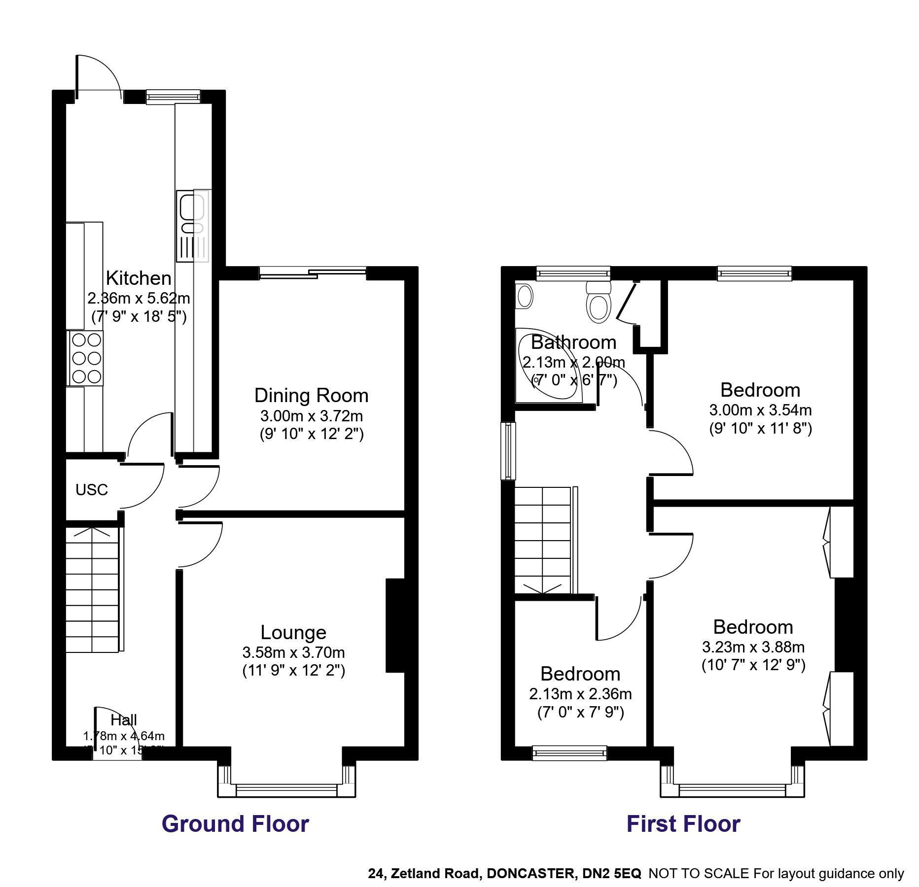 To Let - 3 bedroom Semi-detached house, Zetland Road, Doncaster - £750 pcm