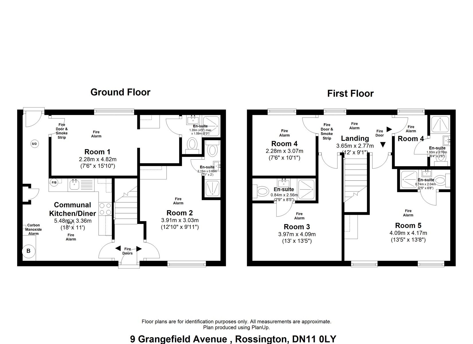 To Let - 1 bedroom Double room, Grangefield Avenue, Room Two, New Rossington, Doncaster - £90 pw